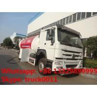 SINO TRUK HOWO brand propane gas dispensing truck for sale, 10metric tons cooking gas dispensing truck for retail Manufactures