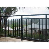 Quality Finished Surface Aluminium Balustrade / Fixed Outdoor Stair Railing for sale