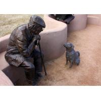 Old Man And Dog Bronze Statue For Home Garden Public Decoration Manufactures