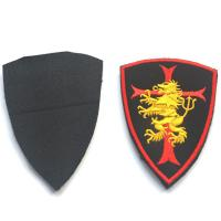 Multi - Colors Custom Cloth Badges Iron On / Adhesive Backing Embroidered Technic Manufactures