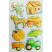 China Shinning Deco Custom Holographic Stickers / farm 3d hologram stickers on sale