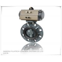 General DN50 PVC Pneumatic Butterfly Valve Wafer Connection With 8 Mounting Holes Manufactures