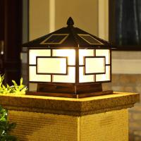 100 Lms High Output Outdoor Post Lantern , Solar Powered Deck Post Lights Manufactures