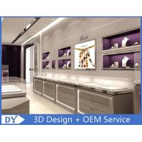 Customized good quality modern fashion wooden glass jewlery display case with led lights decorated Manufactures