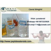 SERM Anti-Estrogen Oral Steroids Clomid 50 Mg/ml, Clomiphene Citrate For PCT Cycle Manufactures