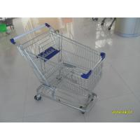 100L Low Tray Supermarket Shopping Trolley Zinc Plated  With Blue Baby Seat Manufactures