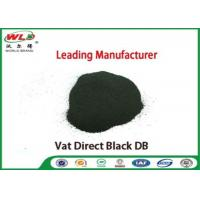 China Vat Direct Black DB Textile Cotton Fabric Dye Chemicals Used In Textile Dyeing on sale
