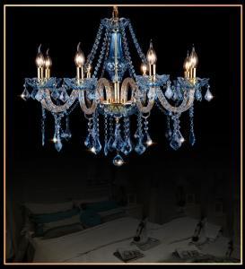 Buy cheap Modern crystal chandelier Kitchen Bedroom lustre de sale dining room lustre de cristal para sala de jantar Blue Color from wholesalers