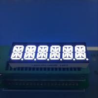 Ultra white 10mm Six digit 14 segment led display common anode for Instrument panel Manufactures