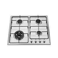 Kitchen NG / LPG 4 Burner Gas Hob , Stainless Steel 4 Burner Gas Cooktop Manufactures
