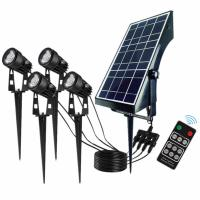 Solar Led Light Waterproof Outdoor Spotlight Auto On/Off for Yard Garden Pathway Manufactures