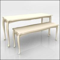 White Nesting Display Tables Fashion Style1200 * 600 * 800MM  For Clothing Shop Manufactures