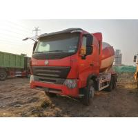 HOWO Heavy Duty Cement Mixer Truck 10 Wheels Euro IV Standard CCC / ISO Manufactures