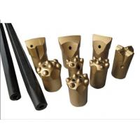 China High Hardness Small Hard Rock Drill Bits Tapered Drill Bits For Marble Quarry on sale