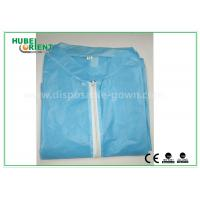 Colored Zip medical lab coats for Workers , lightweight lab protective clothing Manufactures