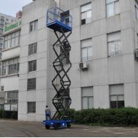 Manganese Steel Mobile Scissor Lift  Electrical Pulling Loading 450kg Manufactures