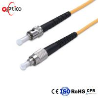 Simplex ST To FC Fiber Patch Cord , Fiber Optic Patch Leads Black Color Manufactures
