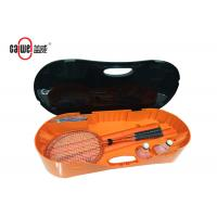 Outdoor Portable Badminton Set PP Material Easy To Fold Up Orange Black Color Manufactures