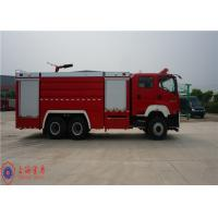 Quality 6x4 Drive Foam Commercial Fire Trucks With YTQ 590K Sandwich Type PTO for sale