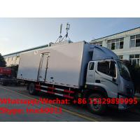 Quality 2018s new design FOTON AUMARK Euro 5 cold room truck, refrigerated van truck for for sale