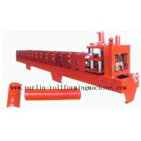 Color Steel Roof Ridge Cap Roll Forming Machine For Theatre / Garden Roofing Manufactures