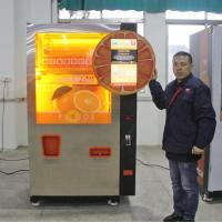 Commercial Auto Fresh Orange Juice Vending Machine Credit Card / Coins And Notes Acceptors Manufactures