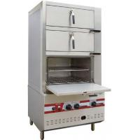 Commercial Three Door Gas Steamer Environmental Friendly Steam Cabinet Manufactures