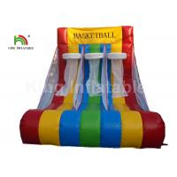 Buy cheap Red Triple Basketball Hoop Shoot Inflatable Sports Games For Rent Fire - from wholesalers