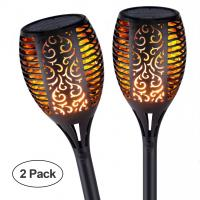 Buy cheap Solar Pathway Torch Lights with Flickering Flames Outdoors Garden Path Light for from wholesalers