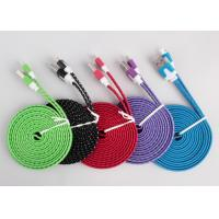 2 Color Tone Micro USB Charging Cable , Mirco To USB Flat Charging Cable Manufactures