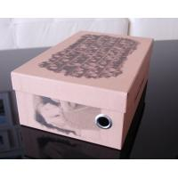 Pink Recycled Matte Lamination Cardboard Shoe Boxes For Women 12 * 8 * 7 Inch Manufactures