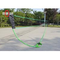 Garden / Backyard Rigid Folding Badminton Set With Metal Poles Easy To Install