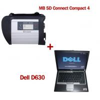 Wireless MB SD C4 Mercedes Benz Diagnostic Tool With Dell D630 Laptop Ready to Use Manufactures