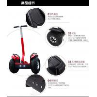 Park Amusement Use Teenager Dual Wheel Off Road Electric Scooter With Colorful LED light Manufactures