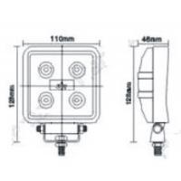15W Square LED Work Light for Heavy-Duty Trucks for Jeep and SUV Manufactures