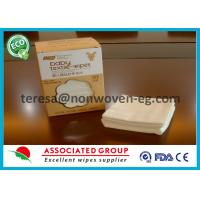 Non Woven Disposable Dry Wipes Unscented Highly Absorbent Airlaid White Color Manufactures