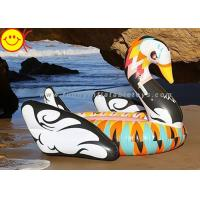 Portable Inflatable Water Floats 190cm Colorful Printed , Inflatable Swan Float For Party Manufactures