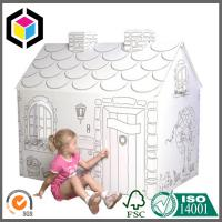 100% Recyclable Material Color Print Corrugated Cardboard Playhouse For Kids Manufactures