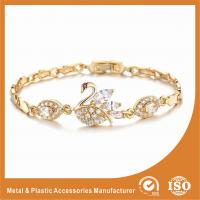 Unique Swan Shaped Fashion Metal Friendship Bracelets With Crystal Diamond Manufactures