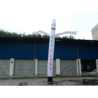 5 Meters Height Inflatable Advertising Products , White Dancing Air Man Manufactures