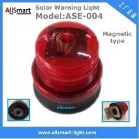 Red Solar Traffic Warning Lights With Magnet Municipal Road Construction magnetic Safety Warning Lighting model ASE-004 Manufactures