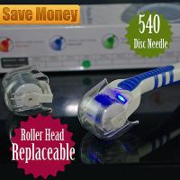 China Head Replaceable Derma Roller  LED Red Light Acne Scars Wrinkles Removal on sale