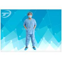 SMS Patient Hospital Disposable Scrub Suits Soft Disposable Medical Gowns , CE certified Manufactures