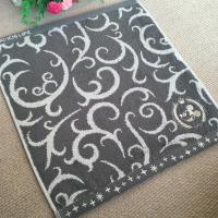 Buy cheap Gray Simple Design Cotton Face Towel Folded Edge With Plush Terry from wholesalers
