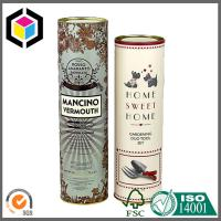 Buy cheap Paper Core Tube with Metal Cap; Matte Color Printing Luxury Paper Tube from wholesalers