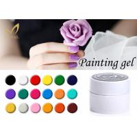 Environmental Color Painting Gel / Soak Off Led UV Gel Nail Polish Manufactures