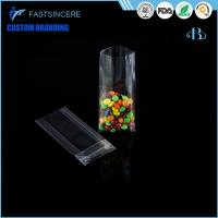 Stand up clear plastic bags cello OPP side block bottom gusset bag for chocolate Manufactures