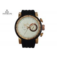 Silicone Strap Male Multifunction Wrist Watch Alloy Watch Case 5 Needles 2 Rounds Manufactures