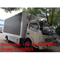 Quality HOT SALE! dongfeng 120hp diesel P6/P8 LED digital billboard truck, DONGFENG 4*2 RHD outdoor LED screen advertising truck for sale