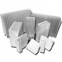 Silvery Anodized Aluminum Heat sink Extrusion Profiles , Aluminum Radiator Manufactures